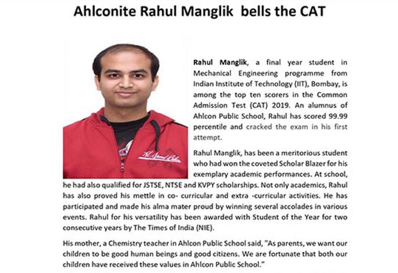 Ahlconite Rahul Manglik