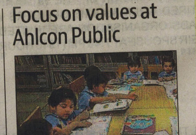 Focus on Values at Ahlcon Public