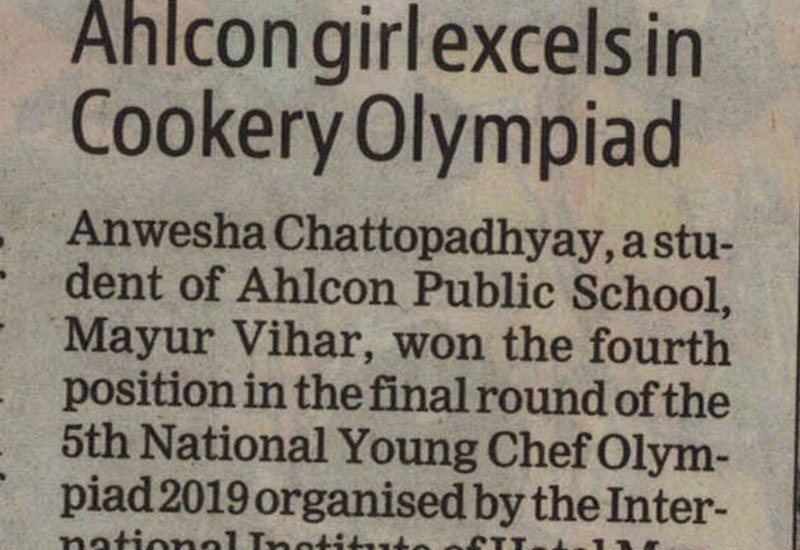 Ahlcon girl excels in Cookey Olympiad
