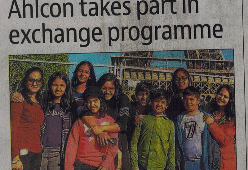 Ahlcon take part in exchange programme