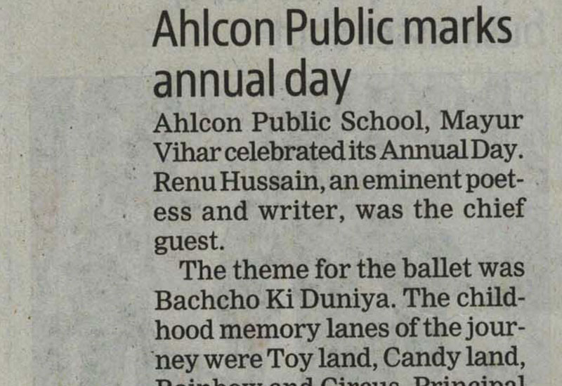Ahlcon Public School marks Annual Day